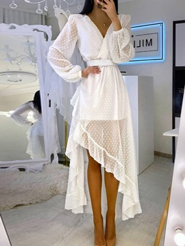 Ericdress Long Sleeve Asymmetric Ankle-Length Fashion Summer Women's Dress