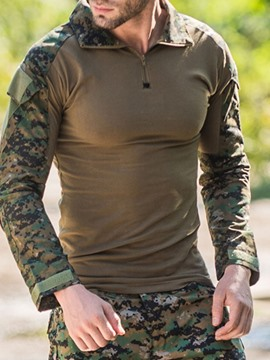 Ericdress Print Camouflage Slim Long Sleeve Men's T-shirt