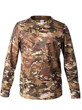 Ericdress Round Neck Print Camouflage Long Sleeve Men's Slim T-shirt