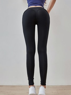 Ericdress Anti-Sweat Solid YogaPants High Waist Tiktok Leggings
