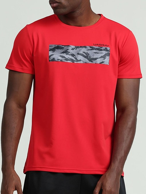 Ericdress Print Breathable Polyester Pullover Short Sleeve Men's Tops