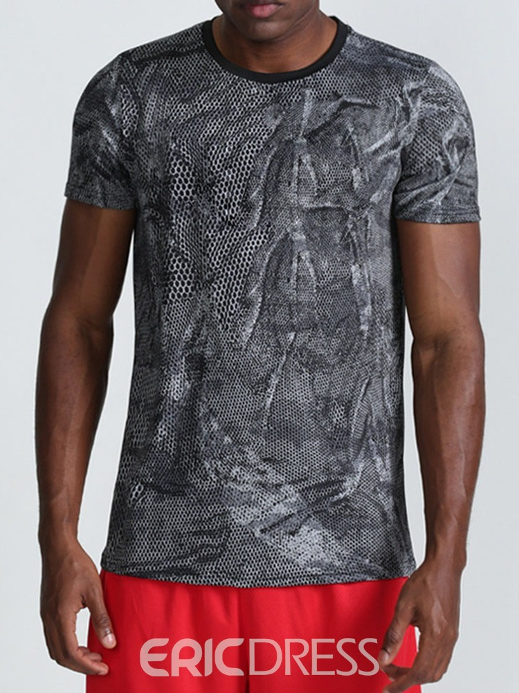 Ericdress Breathable Print Camouflage Polyester Fishing T-Shirt Men's Tops