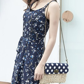 Ericdress Polka Dots Knitted Korean Shoulder Bags