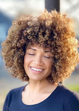 Ericdress Women's African American Afro Curly Synthetic Hair Capless Wigs 12Inch