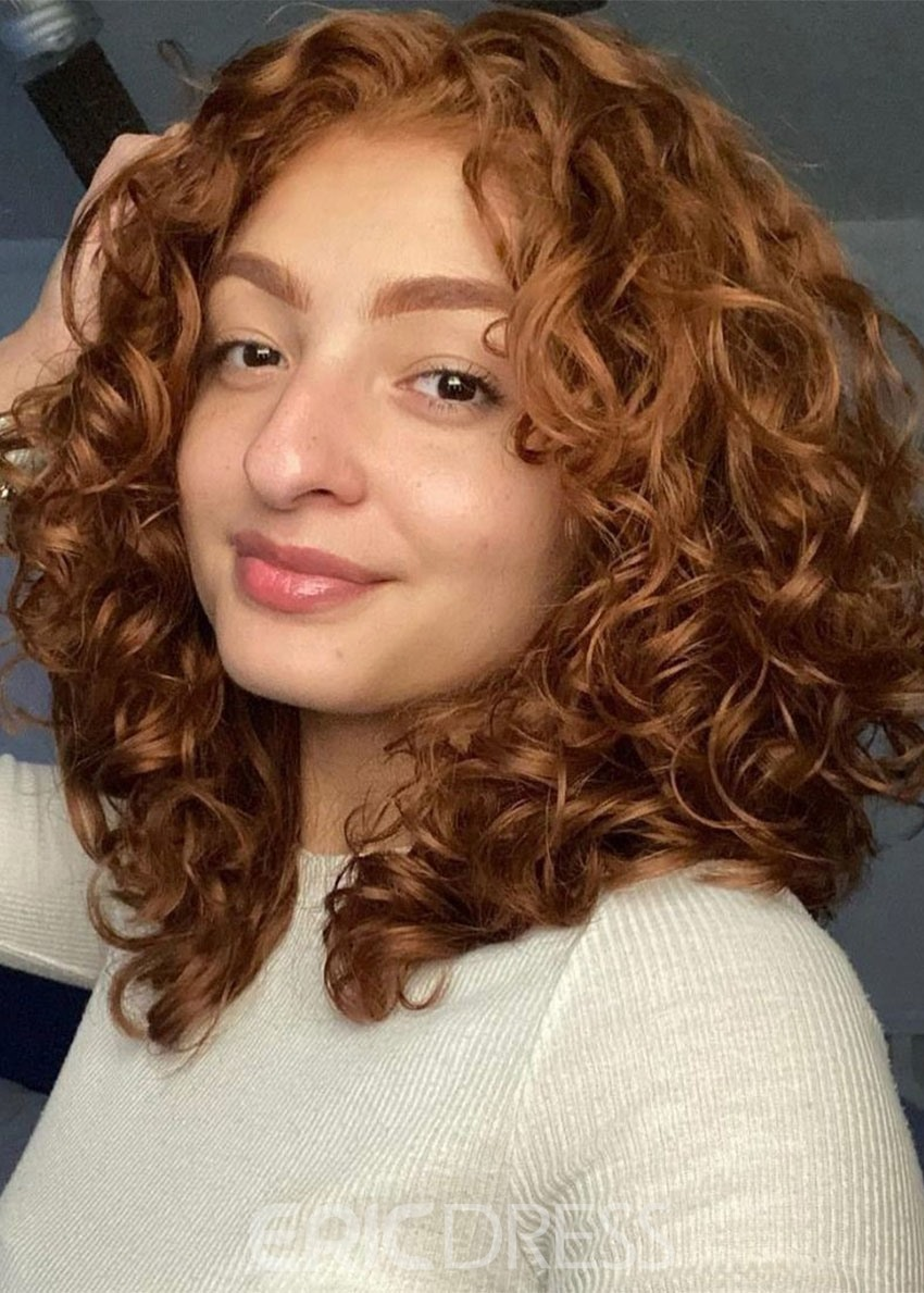 Ericdress Medium Hairstyles Women's Big Curly Synthetic Hair Capless Wigs 14Inch