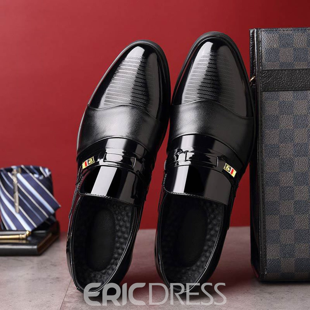 Ericdress Low-Cut Upper PU Leather Men's Shoes