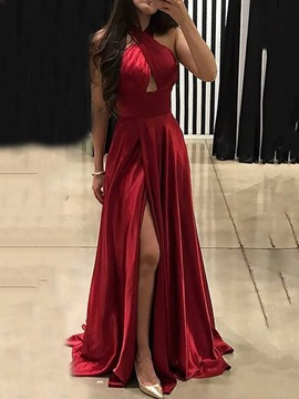 Ericdress Sleeveless Split Floor-Length Pullover Expansion Dress