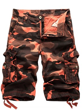 Ericdress Print Straight Camouflage Zipper Men's Short Pants