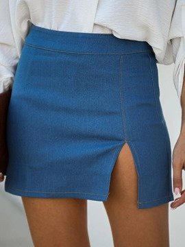 Ericdress Plain Mini Skirt Patchwork Korean Women's Skirt