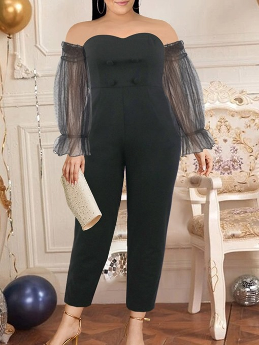 Ericdress Western Ankle Length Pleated High Waist Straight Women's Jumpsuit