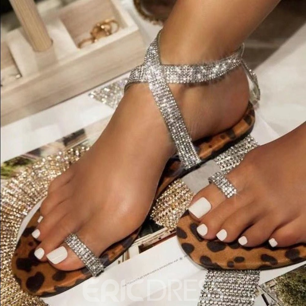 Ericdress Buckle Thong Flat With Western Sandals