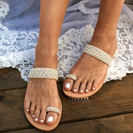 Ericdress Thong Slip-On Flat With Casual Slippers
