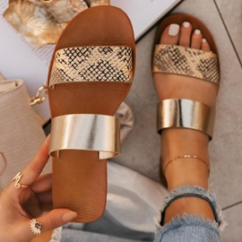 Ericdress Flat With Serpentine Toe Ring Western Slippers