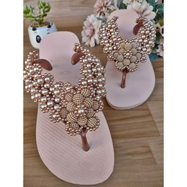 Ericdress Flat With Beads Thong Western Slippers