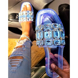 Ericdress Rhinestone Flat With Toe Ring Summer Slippers