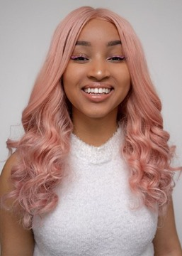 Ericdress Fashion Women's Light Pink Color Loose Wave Synthetic Hair Capless Wigs 22Inch
