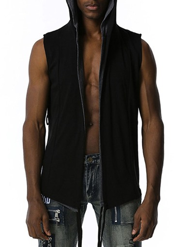 Ericdress Men's Cardigan Plain Straight Hip Hop Hoodies