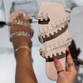 Ericdress Toe Ring Hollow Flat With Beach Slippers