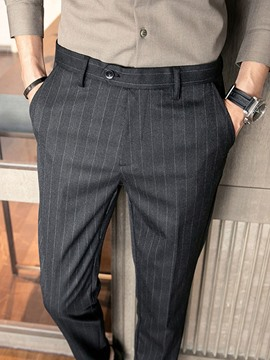 Ericdress Ankle Length Formal Straight Men's Blazer Trousers