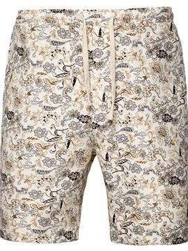 Ericdress Print Straight Floral Lace-Up Sports Men's Shorts