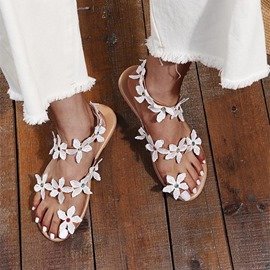 Ericdress Flat With Slip-On Thong Plain Sandals