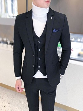 Ericdress One Button Formal Pants Men's Dress Suit