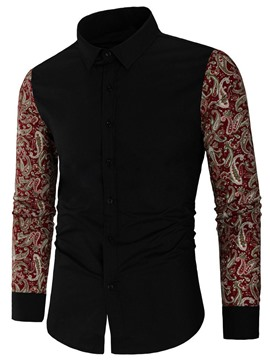Ericdress Floral Patchwork Lapel Women's Slim Fall Shirt