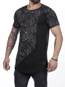Ericdress Polka Dots Round Neck Print Loose Short Sleeve Men's T-shirt