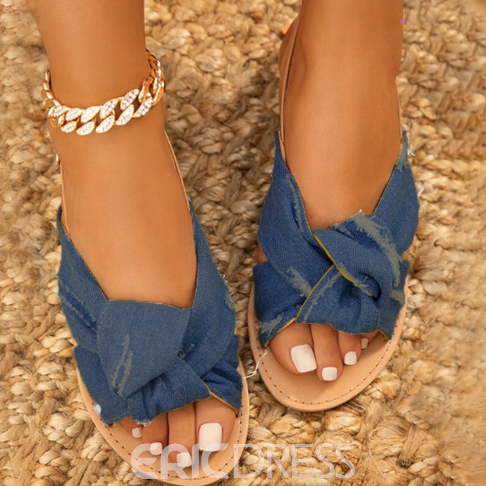 Ericdress Buckle Flat With Open Toe Western Sandals