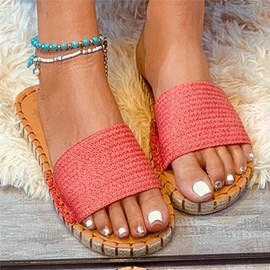 Ericdress Flat With Thread Slip-On Western Slippers