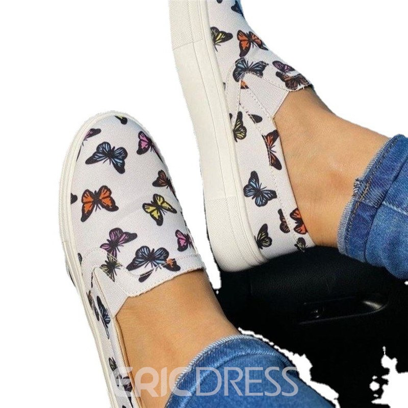 Ericdress Flat With Thread Round Toe Casual Thin Women's Shoes