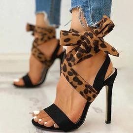 Ericdress Stiletto Heel Peep Toe Lace-Up Western Sandals