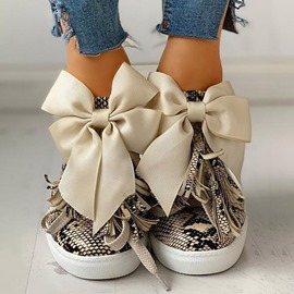Ericdress Slip-On Bow Low-Cut Upper Platform Sneakers