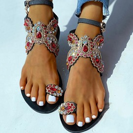 Ericdress Slip-On Ankle Strap Flat With Casual Sandals