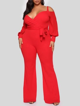 Ericdress Plain Western Full Length Women's Slim Jumpsuit