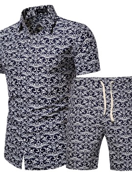 Ericdress Shirt Print Casual Summer Men's Outfit