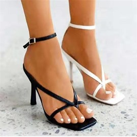 Ericdress Ankle Strap Buckle Square Toe Buckle Sandals