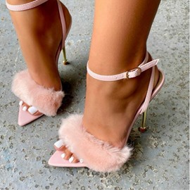 Ericdress Pointed Toe Line-Style Buckle Stiletto Heel Hip Hop Sandals