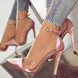 Ericdress Stiletto Heel Buckle Pointed Toe Ultra-High Heel(≥8cm) Thin Shoes
