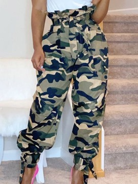Ericdress Loose Camouflage Full Length High Waist Casual Women's Pants