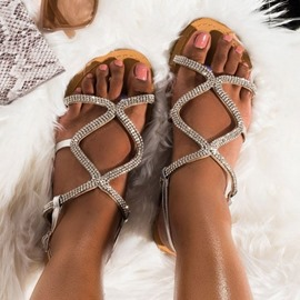 Ericdress Flat With Open Toe Buckle Casual Sandals