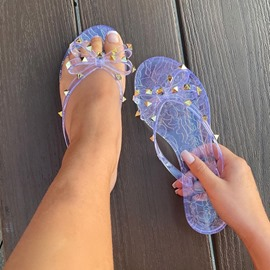 Ericdress Flat With Slip-On Bow Casual Slippers