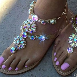 Ericdress Toe Ring Buckle Flat With Sweet Sandals