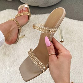 Ericdress Chain Flip Flop Slip-On Summer Slippers