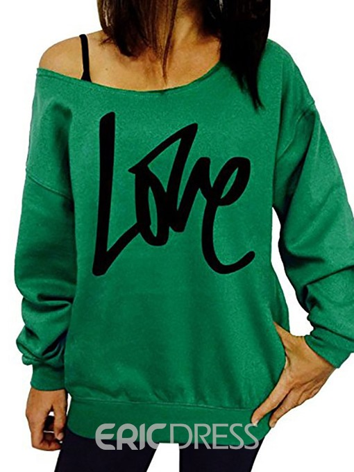 Ericdress Print Regular Letter Long Sleeve Women's Slim Hoodie