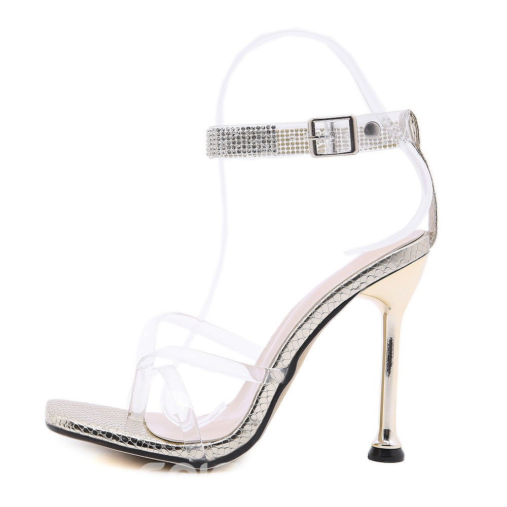 Ericdress Strappy Buckle Square Toe Buckle Sandals