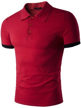 Ericdress Polo Neck Button Casual Men's Polo Shirt