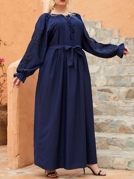 Ericdress Long Sleeve Ankle-Length Casual Pullover Dress Plus Size