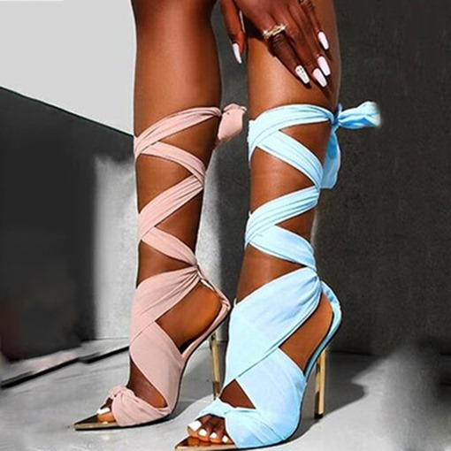 Ericdress Pointed Toe Lace-Up Lace-Up Sandals