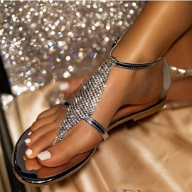 Ericdress Ankle Strap Flat With Round Toe Mid-Cut Upper Sandals